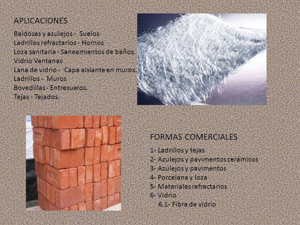APLICACIONES FORMAS COMERCIALES Baldosas y azulejos - Suelos