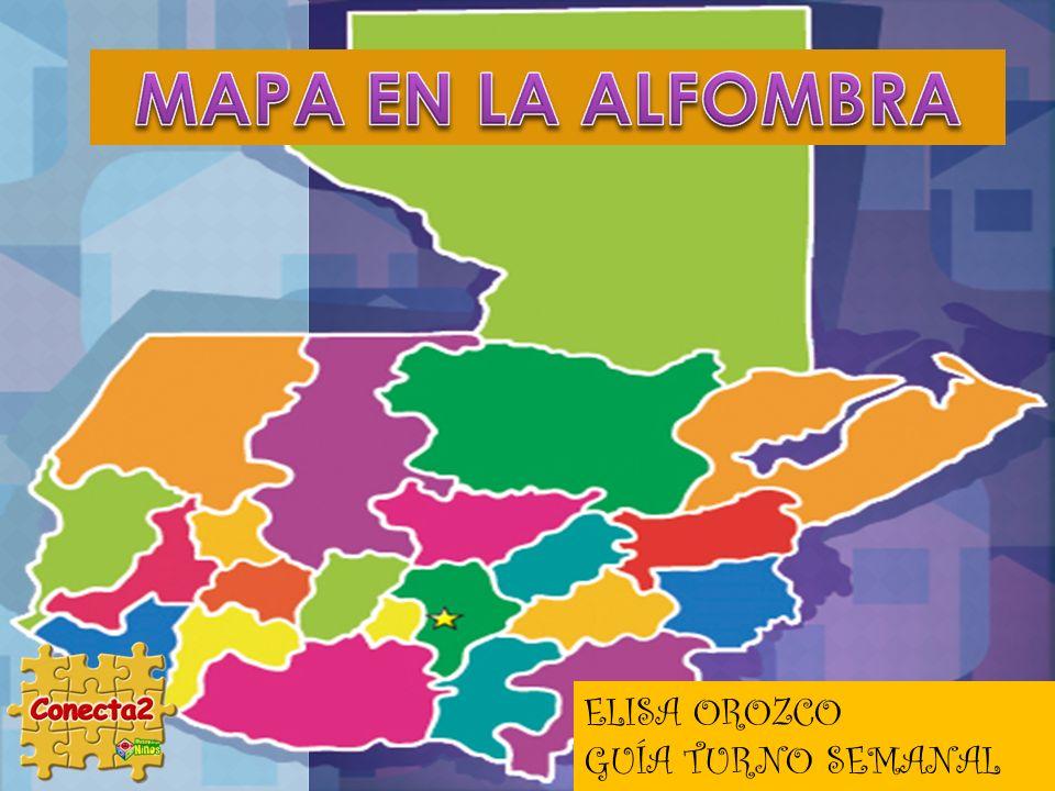 MAPA EN LA ALFOMBRA ELISA OROZCO GUÍA TURNO SEMANAL