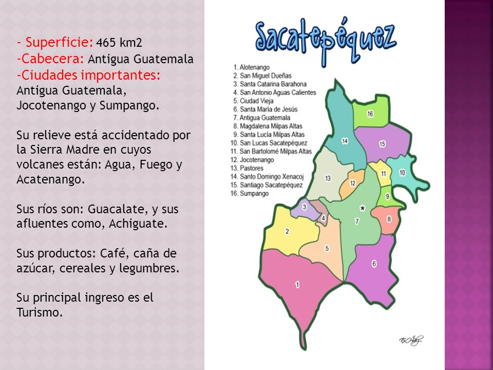 Cabecera: Antigua Guatemala