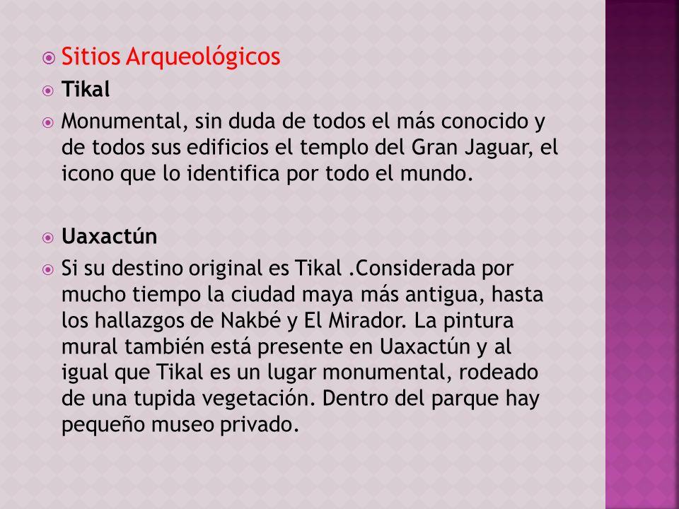 Sitios Arqueológicos Tikal