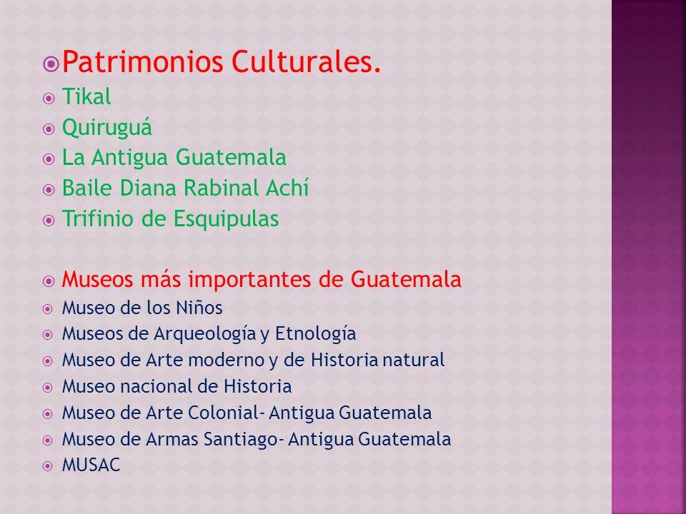 Patrimonios Culturales.
