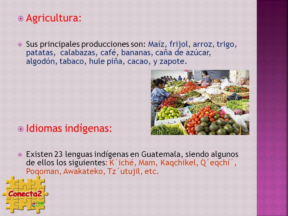 Agricultura: Idiomas indígenas: