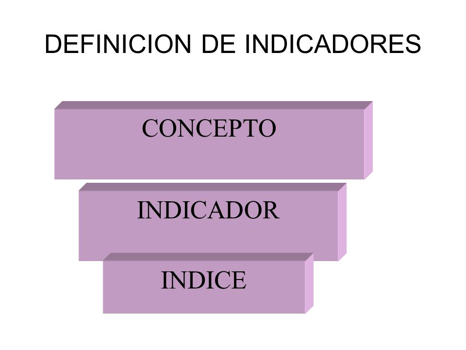 DEFINICION DE INDICADORES