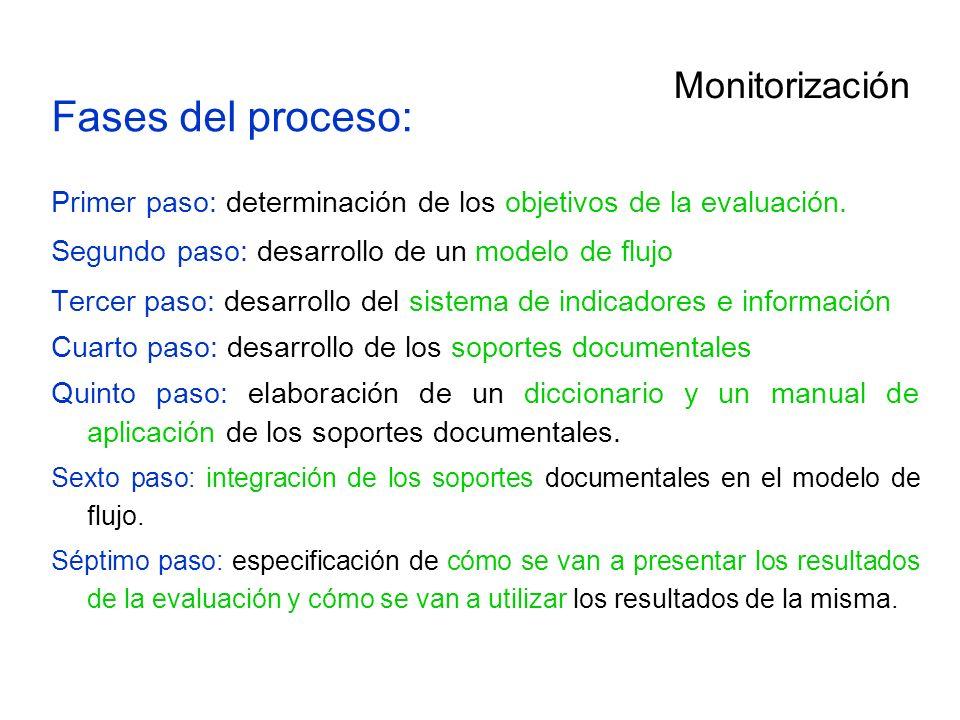 Fases del proceso: Monitorización