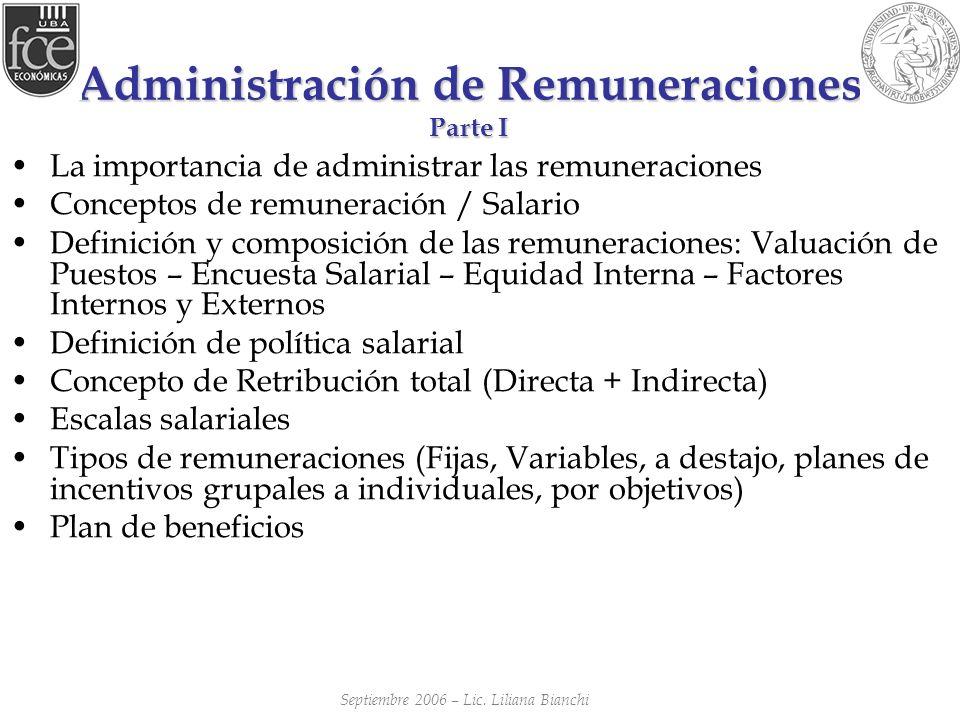 Administración de Remuneraciones Parte I