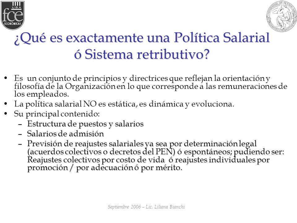 ¿Qué es exactamente una Política Salarial ó Sistema retributivo