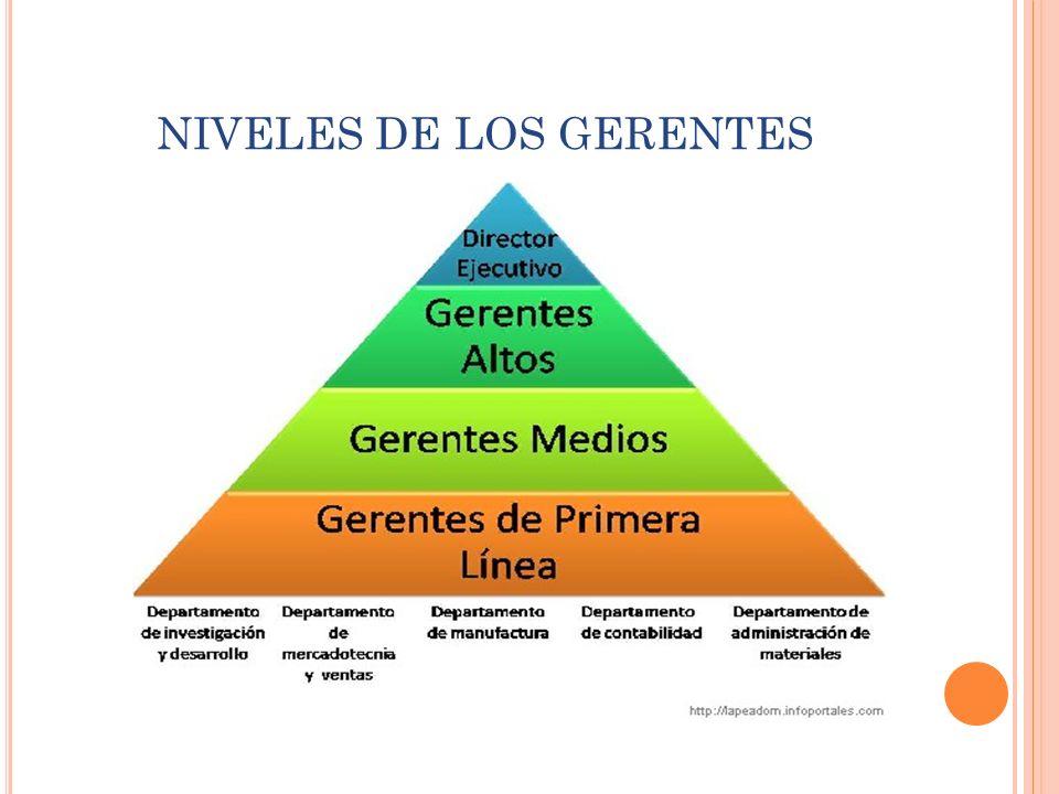 NIVELES DE LOS GERENTES