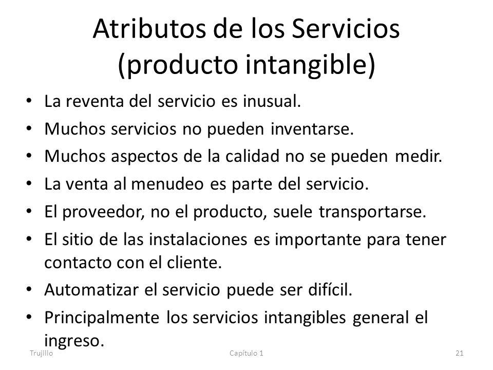 Atributos de los Servicios (producto intangible)