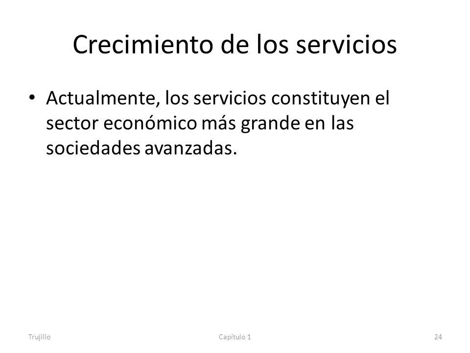 Crecimiento de los servicios