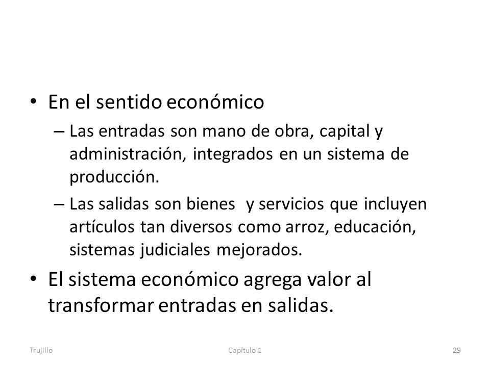En el sentido económico