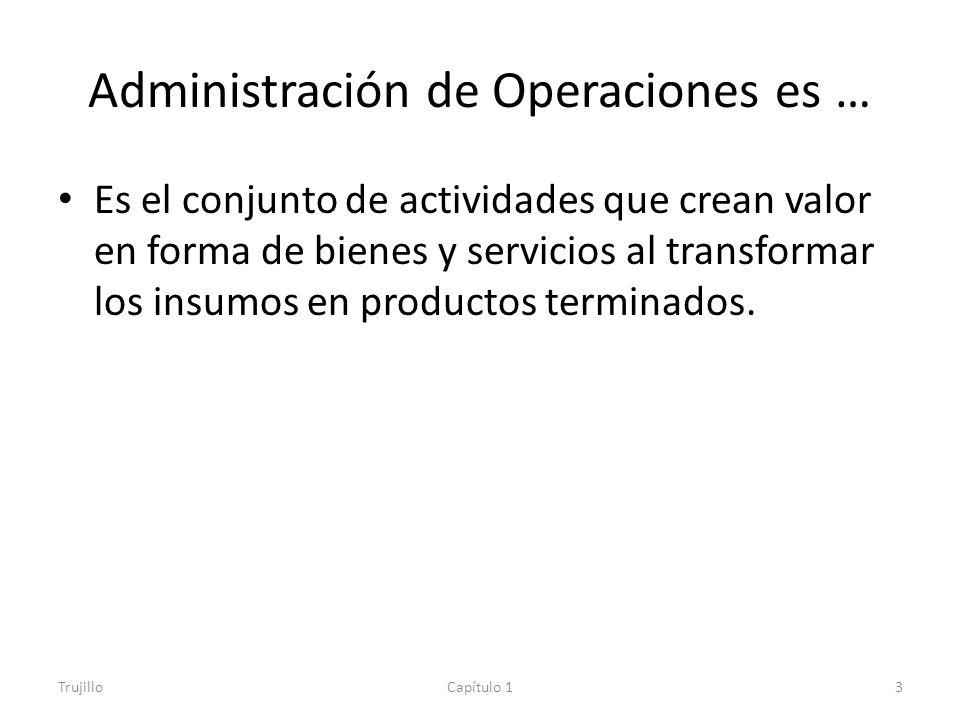 Administración de Operaciones es …