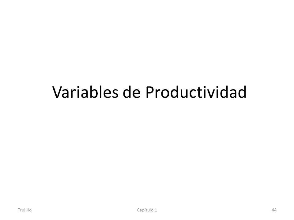 Variables de Productividad