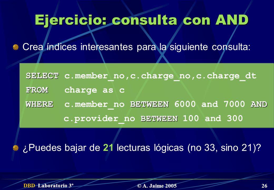 Ejercicio: consulta con AND