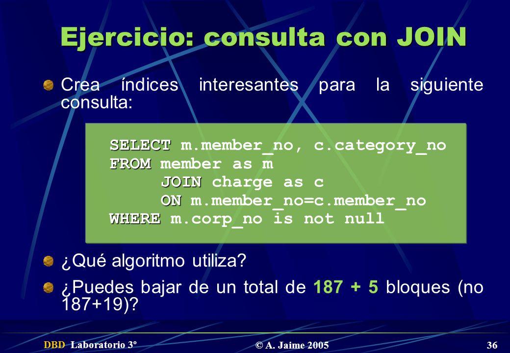 Ejercicio: consulta con JOIN