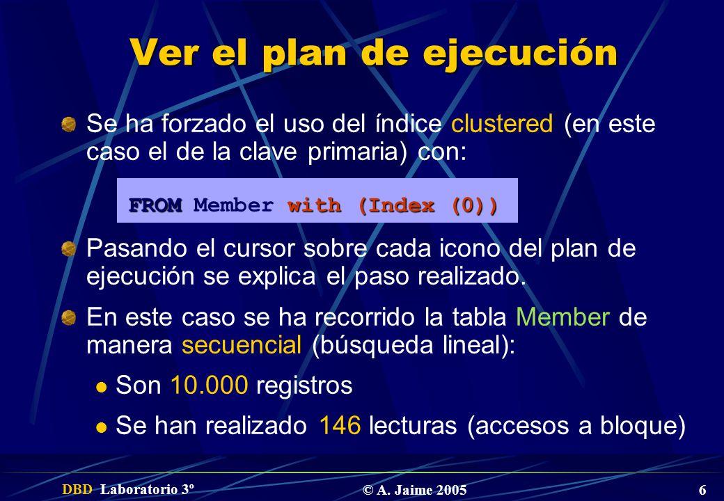 Ver el plan de ejecución