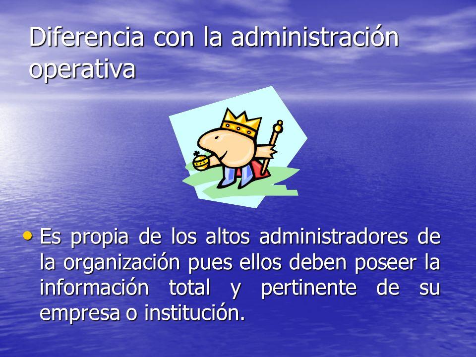 Diferencia con la administración operativa