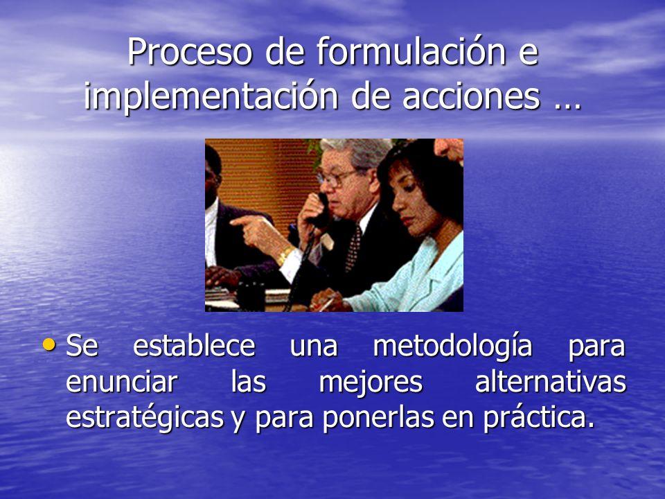 Proceso de formulación e implementación de acciones …