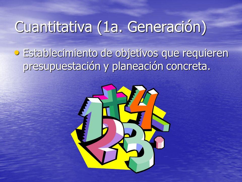 Cuantitativa (1a. Generación)