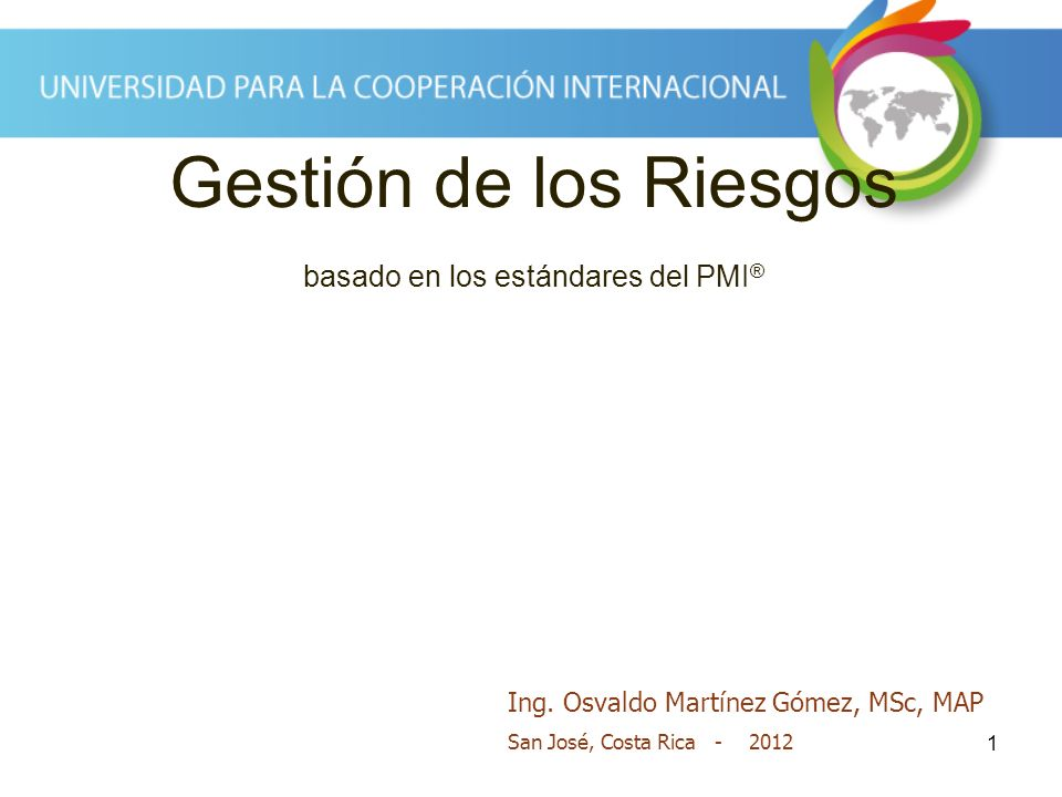 Gestión de los Riesgos basado en los estándares del PMI®