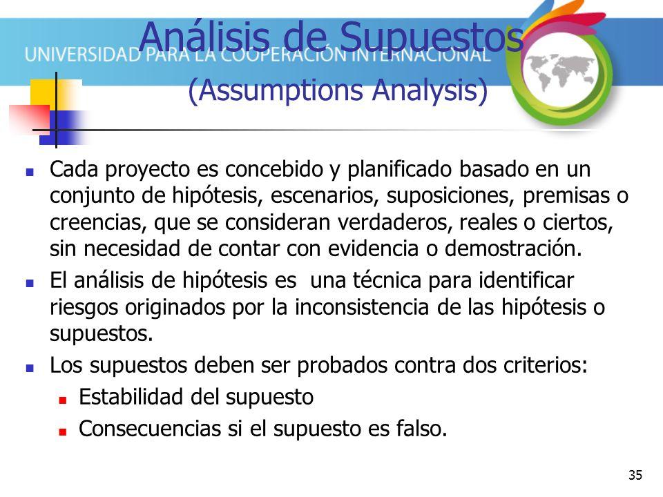 Análisis de Supuestos (Assumptions Analysis)