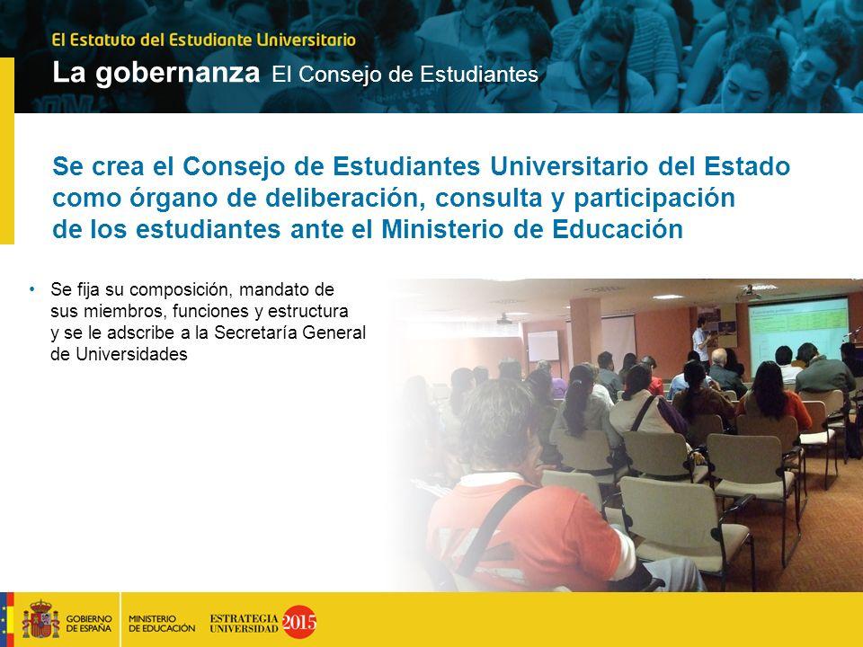 La gobernanza El Consejo de Estudiantes