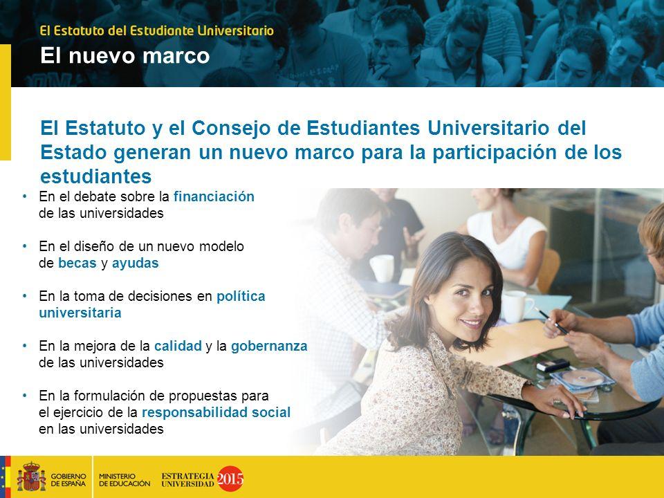 El nuevo marco El Estatuto y el Consejo de Estudiantes Universitario del Estado generan un nuevo marco para la participación de los estudiantes.
