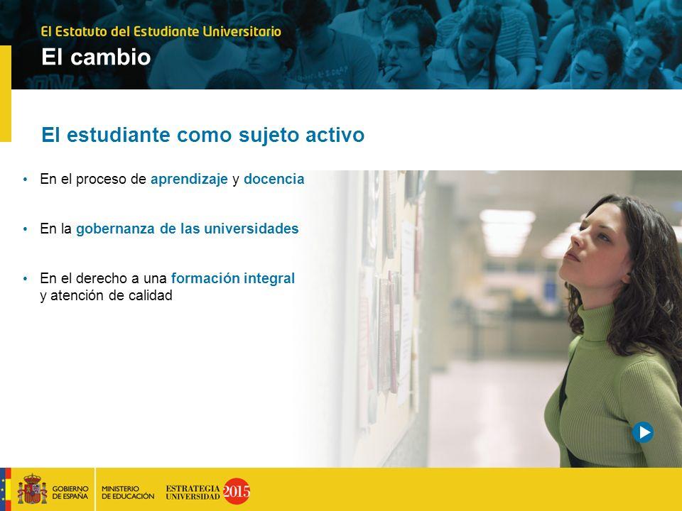 El cambio El estudiante como sujeto activo