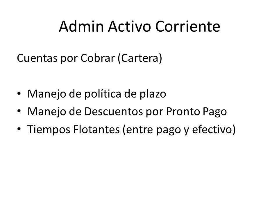 Admin Activo Corriente