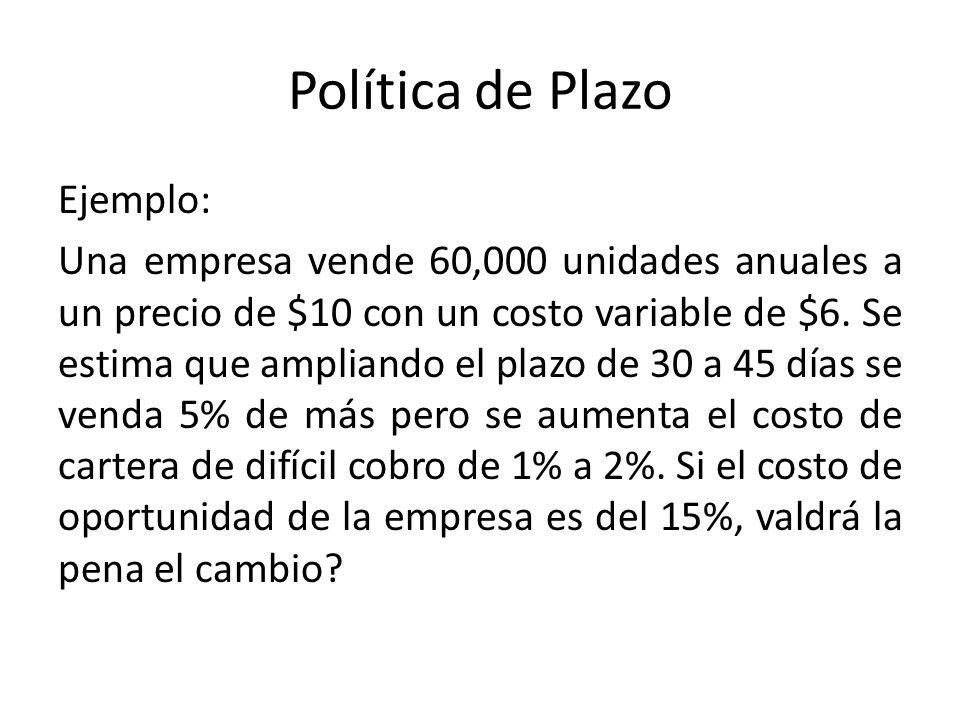 Política de Plazo