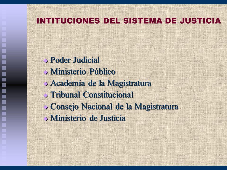 INTITUCIONES DEL SISTEMA DE JUSTICIA