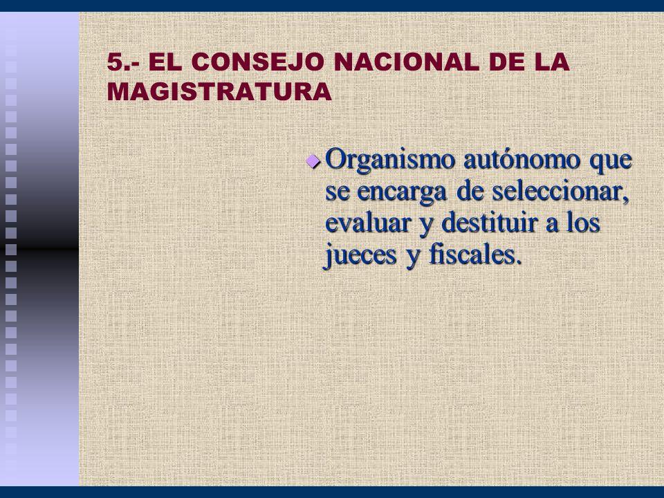 5.- EL CONSEJO NACIONAL DE LA MAGISTRATURA