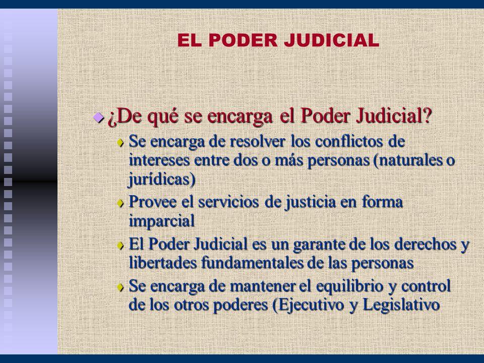 ¿De qué se encarga el Poder Judicial