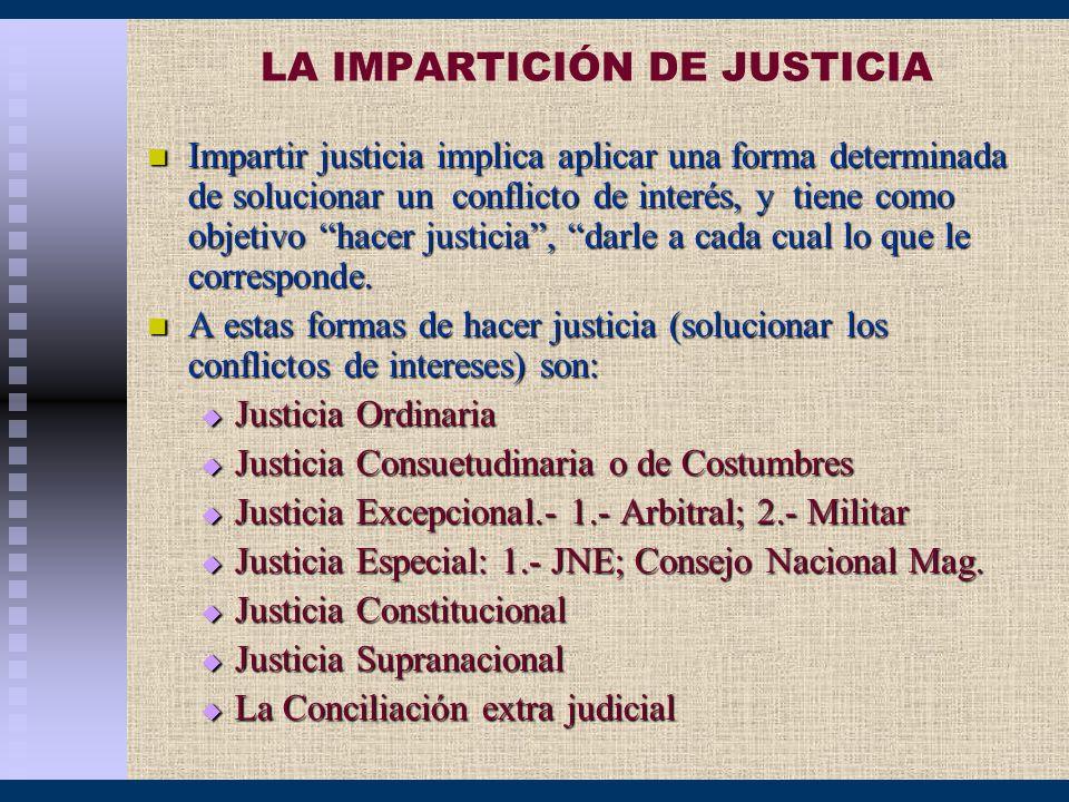 LA IMPARTICIÓN DE JUSTICIA