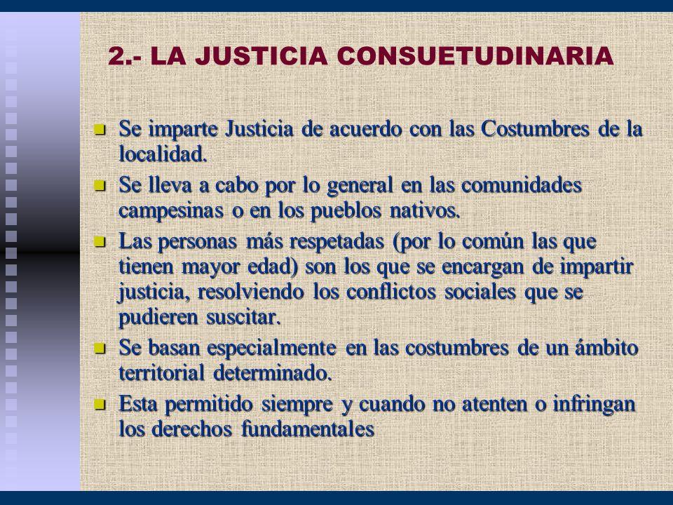 2.- LA JUSTICIA CONSUETUDINARIA