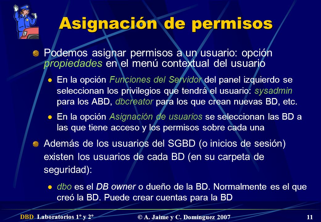 Asignación de permisos