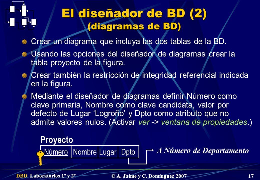 El diseñador de BD (2) (diagramas de BD)