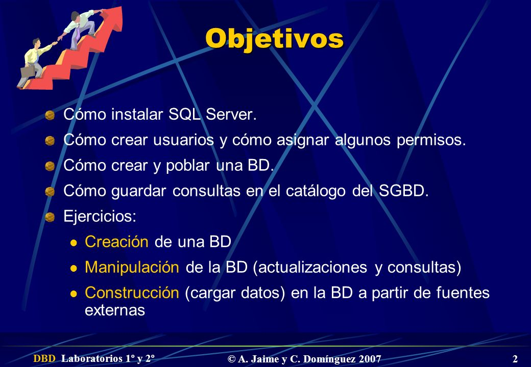 Objetivos Cómo instalar SQL Server.