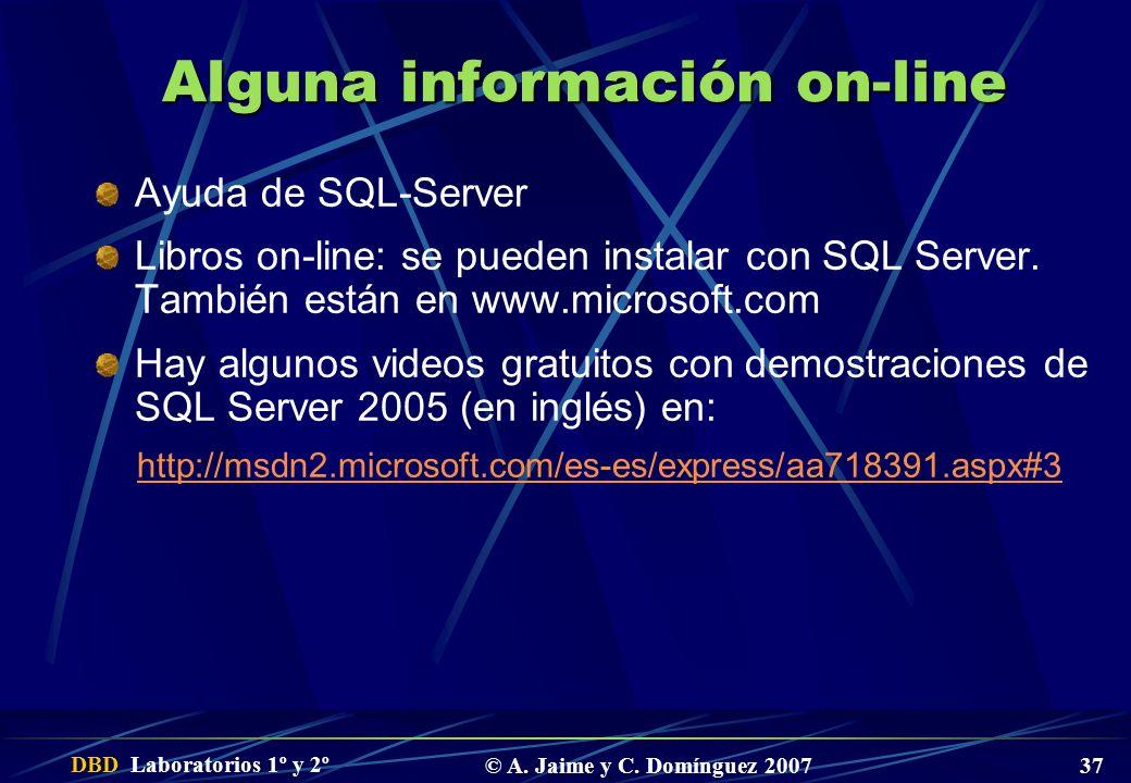 Alguna información on-line