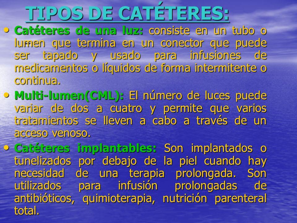 TIPOS DE CATÉTERES: