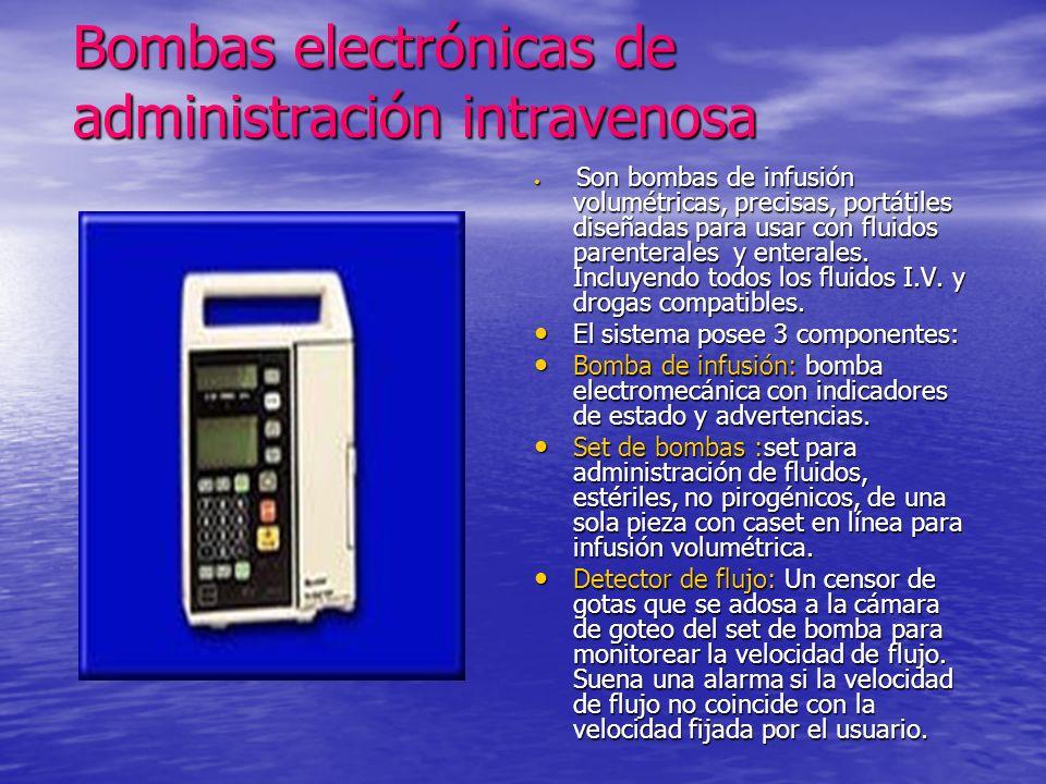 Bombas electrónicas de administración intravenosa