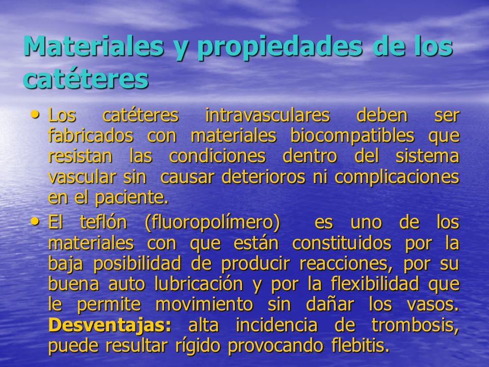 Materiales y propiedades de los catéteres