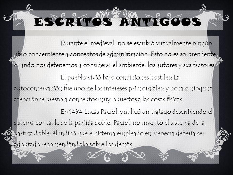 ESCRITOS ANTIGUOS