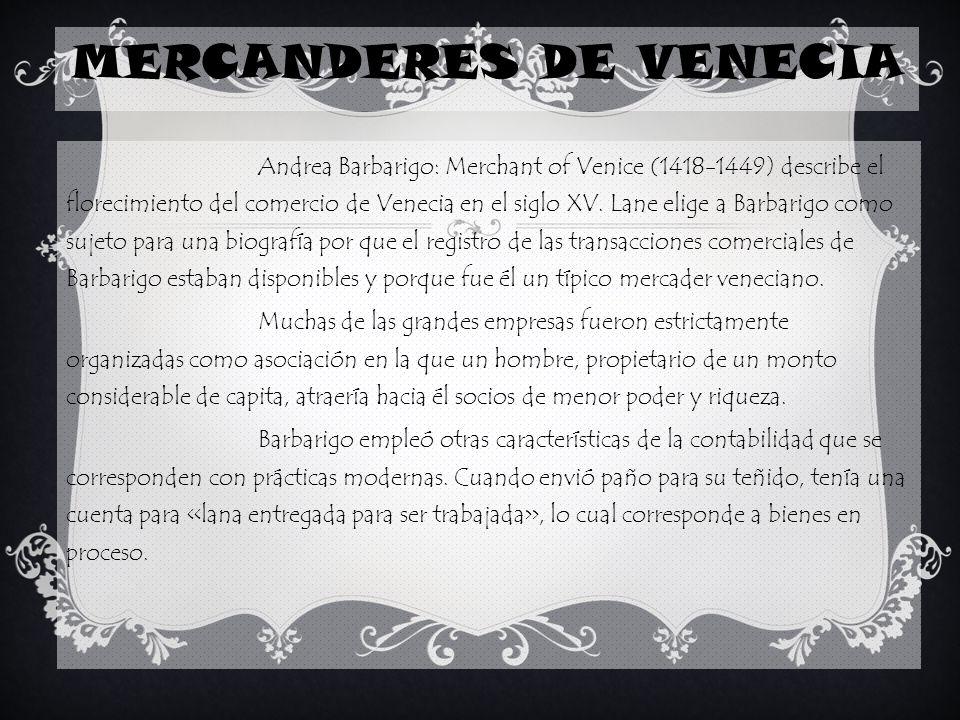 MERCANDERES DE VENECIA