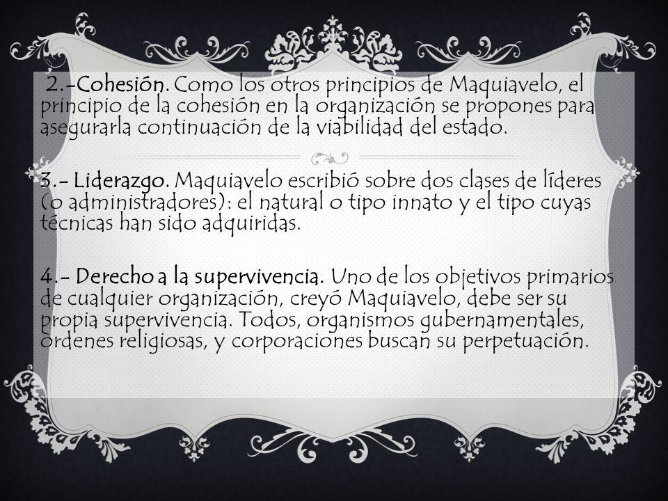 2.-Cohesión.