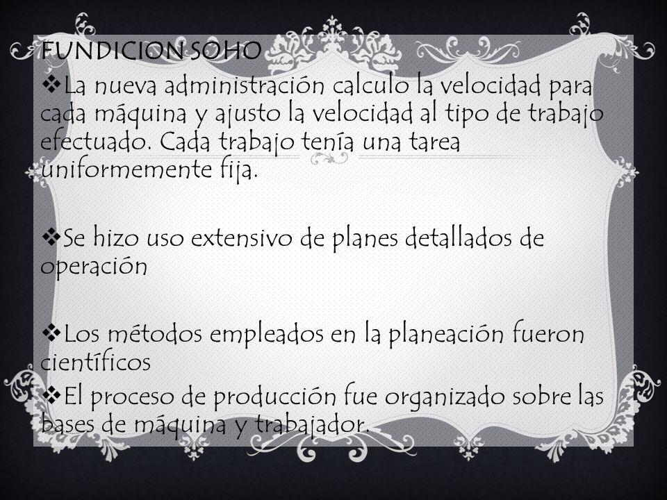 FUNDICION SOHO