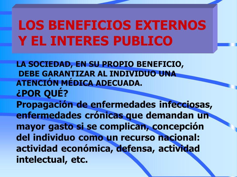 LOS BENEFICIOS EXTERNOS Y EL INTERES PUBLICO