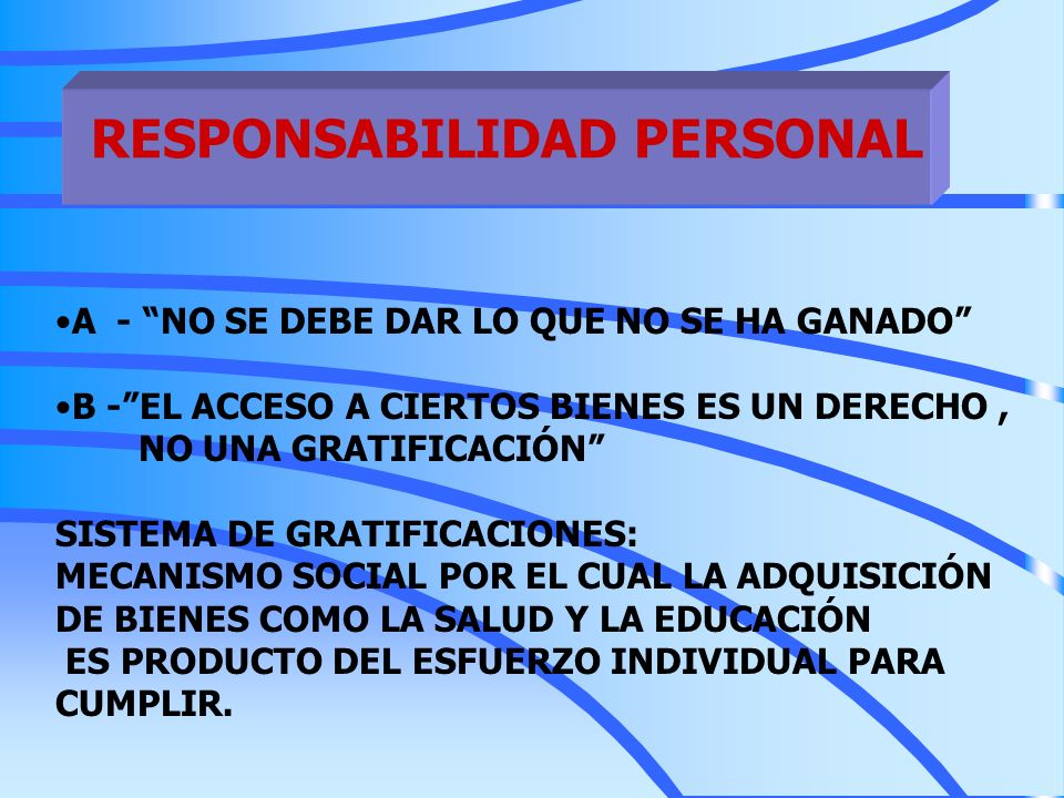 RESPONSABILIDAD PERSONAL