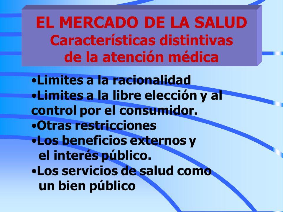 EL MERCADO DE LA SALUD Características distintivas de la atención médica