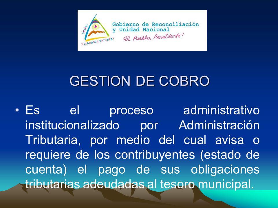 GESTION DE COBRO