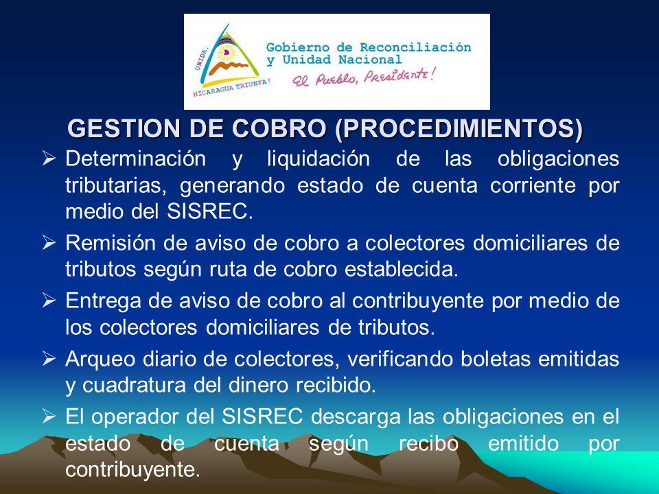 GESTION DE COBRO (PROCEDIMIENTOS)